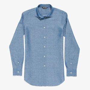 Loro Piana Kara Chambray Shirt (Italy, $700) NWOT